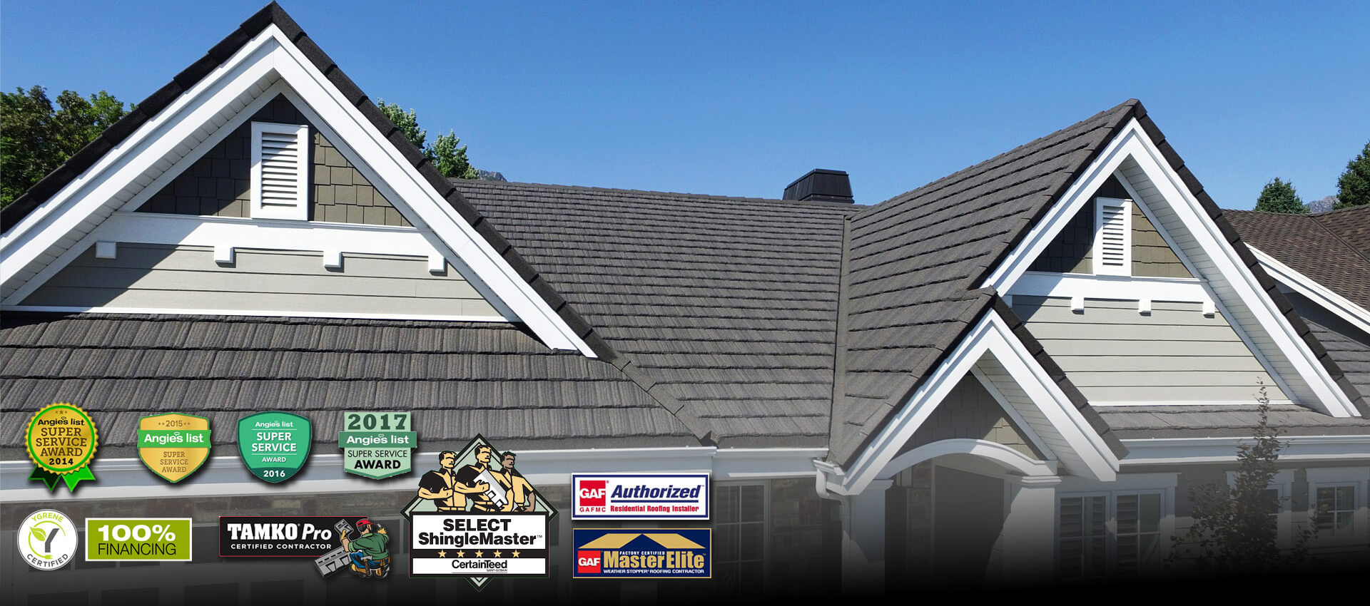 Financing available on new roofs